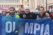 Tři členové Olympia Spartan Training KH: zleva Jakub Vrbenský, Michal Pavlík a Martina Fabiánová.
