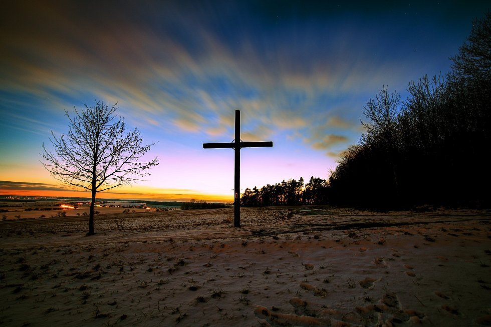 Kříž u obce Vysoká.