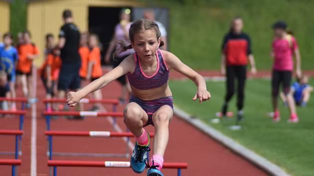 O medaile závodily atletické přípravky v Kutné Hoře.