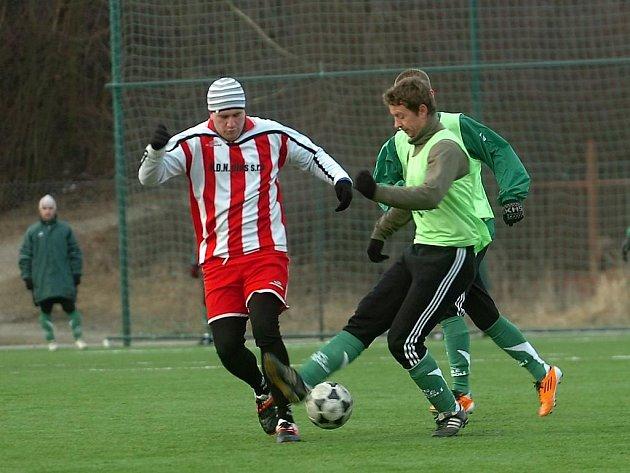 Fotbalový zápas Kutná Hora B - Bílé Podolí, 4:3. 4.2.2012