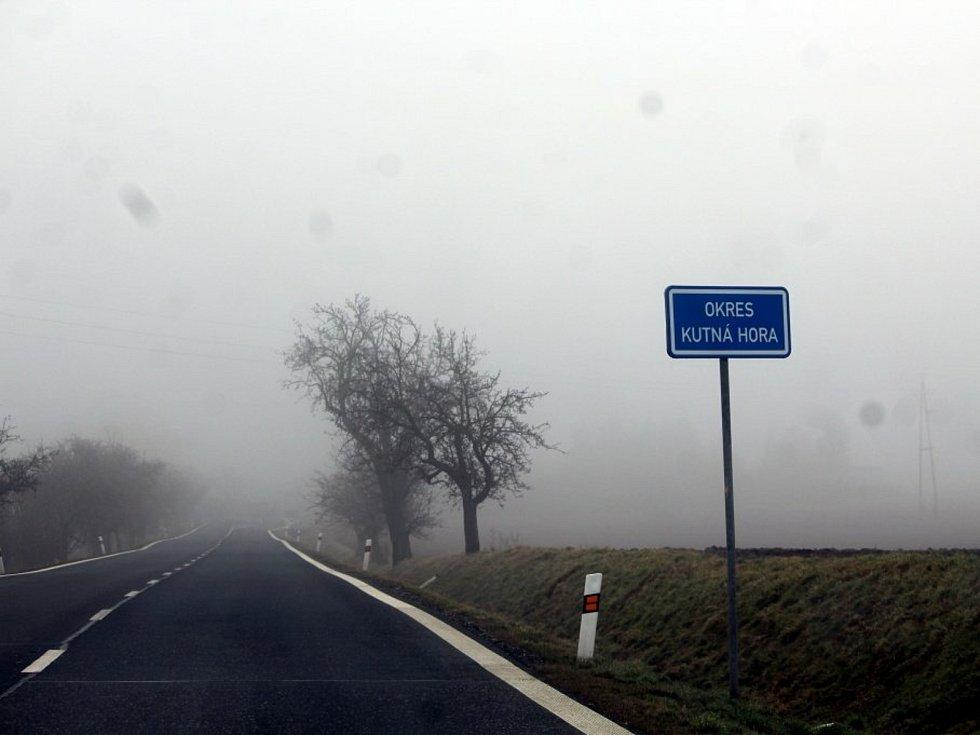 Hranice okresu Kutná Hora.