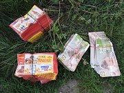 U čáslavského rybníku Homolka našli občané 40 kilogramů letáků.