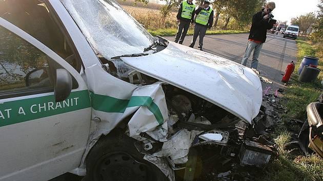 Dopravní nehoda mezi Horními Bučicemi a Druhanicemi.