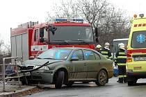 Dopravní nehoda na Karlově v Kutné Hoře. 19. 11. 2010