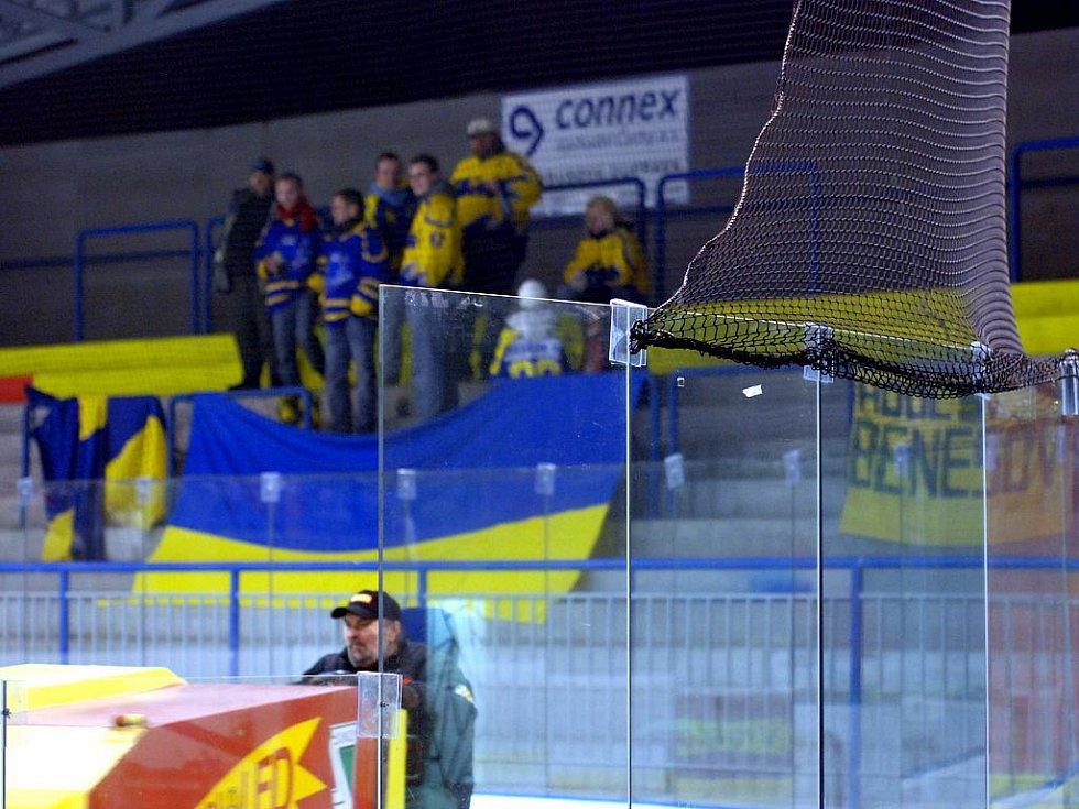 Z hokejového utkání Kutná Hora - Benešov. 10.1.2010