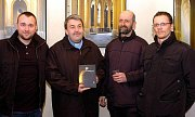Oficiální představení knihy Splendissima Basilica, zleva: Michal Koubský, Pavel Tobek, Libor Teplý a Štěpán Vácha