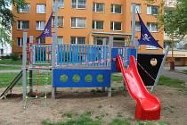 Dětské hřiště v Dolní ulici v Kutné Hoře.
