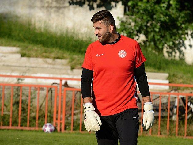 Fotbalový brankář Petr Malý.