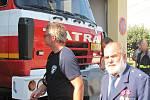 Z předání hasičského vozidla CAS 24 na podvozku Tatra 815 dobrovolným hasičům v Malíně.