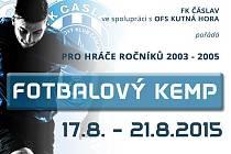 Pozvánka na letní fotbalový kemp v Čáslavi.