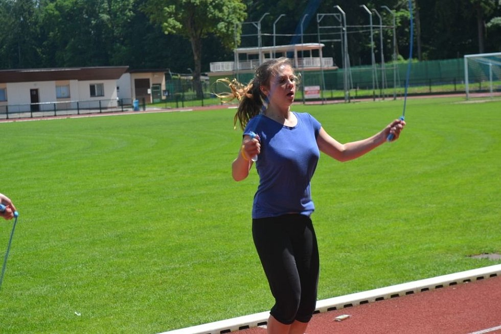 Z krajského kola Odznaku všestrannosti olympijských vítězů (OVOV) v Čáslavi.