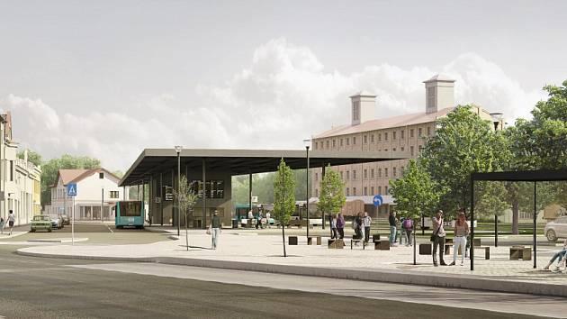 Vizualizace nového terminálu v Kutné Hoře.