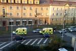 Dopravní nehoda na přechodu pro chodce před nemocnicí v Jeníkovské ulici v Čáslavi.