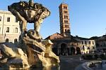 Kostel Santa Maria in Cosmedin v Římě.