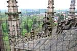 Výstup na ochozy chrámu sv. Barbory v Kutné Hoře.
