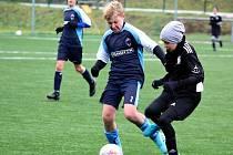 Fotbalový přátelský zápas, mladší žáci, kategorie U13: FC Žďas Žďár nad Sázavou - FK Čáslav 3:5 (0:3, 1:1, 2:1).