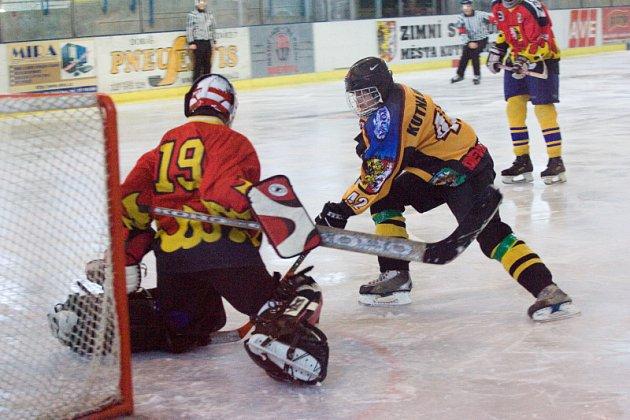 Z utkání hokeje dorost K. Hora - Mělník, neděle 5. října 2008