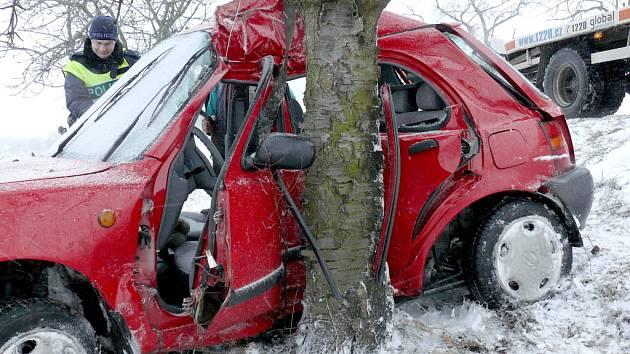 Dopravní nehoda u Malešova