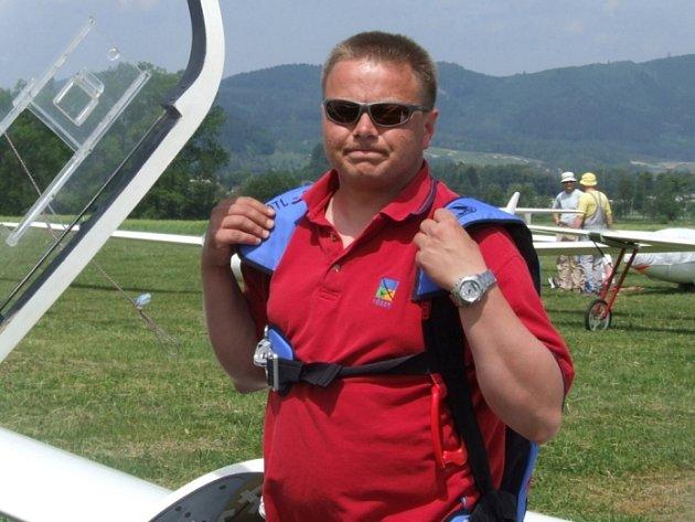 Bronzový Martin Hřivna před startem.