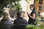 Opětovné nošení roušek v Kutné Hoře v sobotu 11. července 2020.