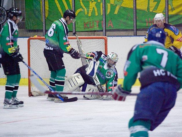Z hokejového střetnutí Kutná Hora - Příbram (5:2)