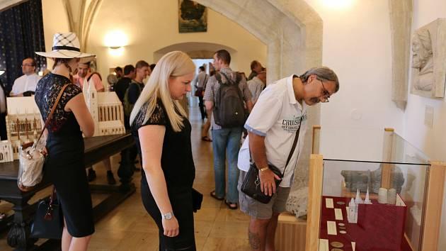 Ze zahájení výstavy Stavitelé katedrál v Českém muzeu stříbra na Hrádku v Kutné Hoře.