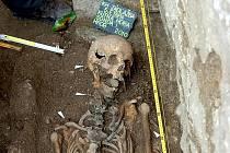 Archeologický výzkum v Kutné Hoře, říjen 2010