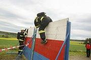 Z hasičské soutěže v disciplínách TFA v Bohdanči.