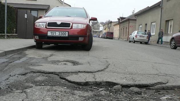 Prachňanská ulice v Kutné Hoře.