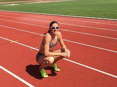 Zuzana Hejnová na stadionu Olympia v Kutné Hoře.
