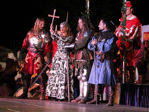 Večerní program na Královském stříbření Kutné Hory 2014