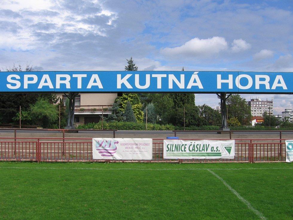 Fotbalový stadion Sparty Kutná Hora v Lorci.