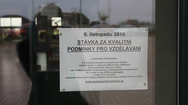 Učitelé v Žehušicích budou ve středu 6. listopadu 2019 stávkovat.
