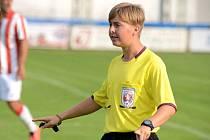Fotbalový rozhodčí David Zoufalý.