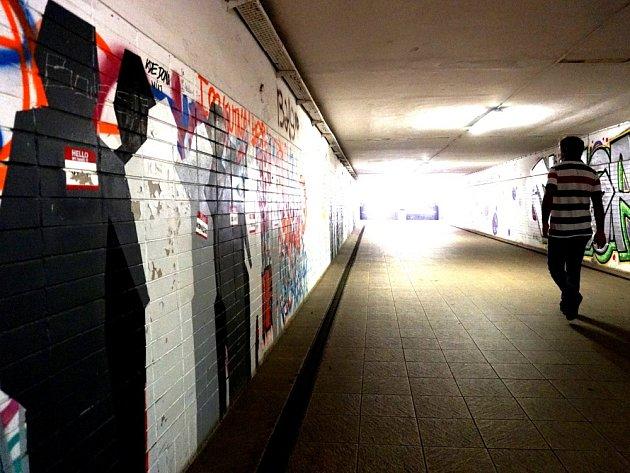 Podchod na hlavním vlakovém nádraží v Kutné Hoře