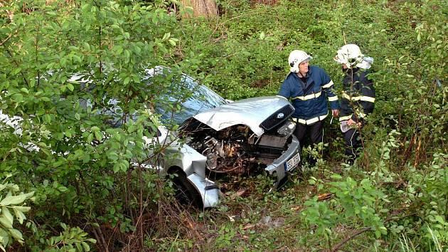 Pondělní autonehoda u Horek