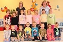 Děti a paní učitelky v Mateřské škole Kluky.