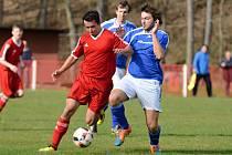 Ve 14. kole okresního fotbalového přeboru zvítězily Zbraslavice v Malešově 1:0.
