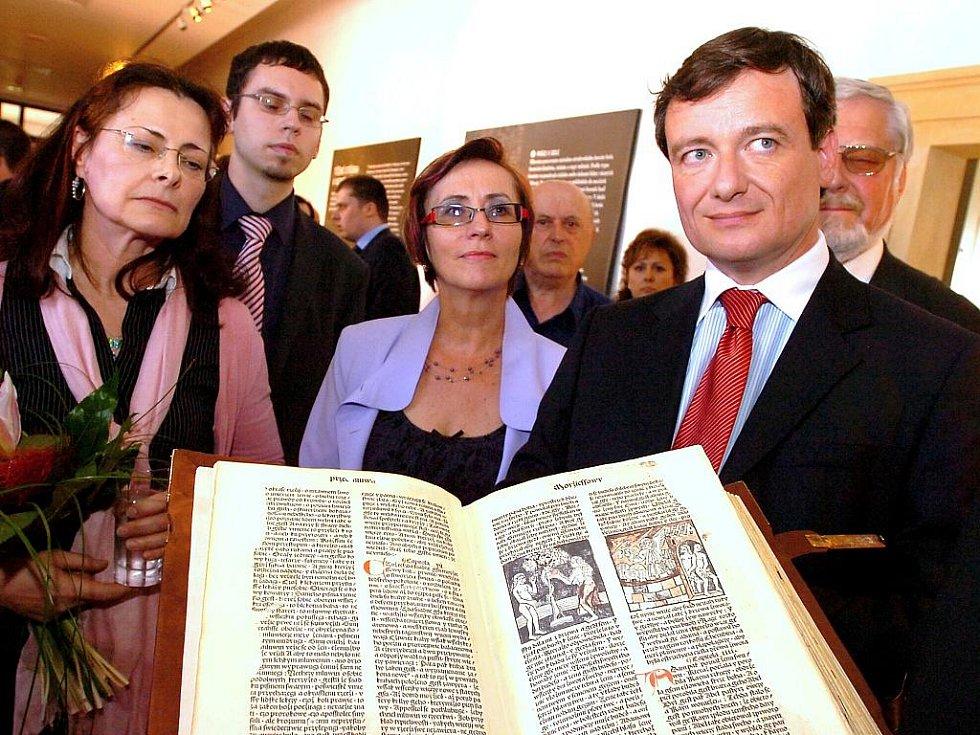Prezentace faksimile Kutnohorské bible v GASK, 8.5. 2010