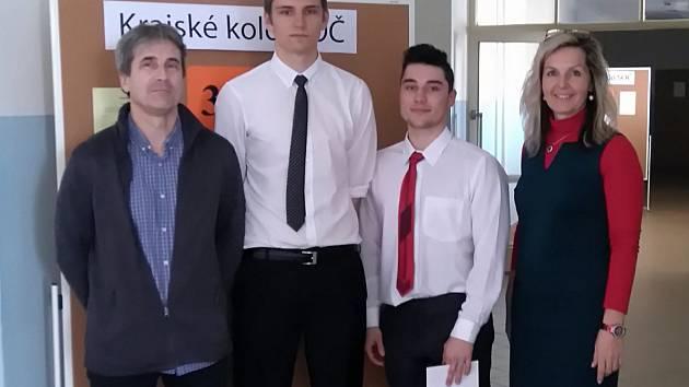 Michal Houfek a Matěj Reichman se zúčastnili krajského kola Středoškolské odborné činnosti.
