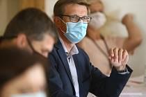 Martin Kupka (ODS) na předvolební debatě v Kutné Hoře.
