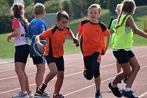 Z atletických závodů na stadionu Olympia v Kutné Hoře