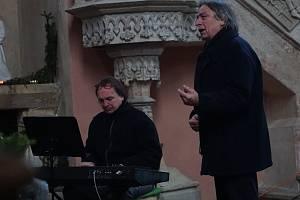 Vánoční a divadelní vzpomínání Karla Bláhy v kostele na Kaňku