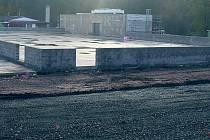 Výstavba zimího stadionu v Čáslavi.
