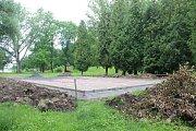 Workoutové hřiště v Čáslavi minulý týden