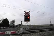 Dopravní nehoda na železničním přejezdu v Církvici.