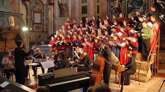Koncert v kostele sv. Jana Nepomuckého v Kutné Hoře.