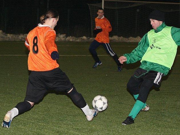 Z přípravného fotbalového utkání dorostenců FK Kolín a Bílého Podolí, účastníka I.B třídy dospělých.