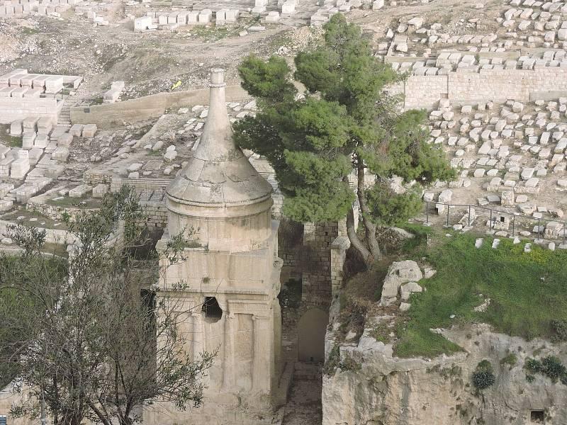 Kidrónské údolí u Getsemanské zahrady v Jeruzalémě.