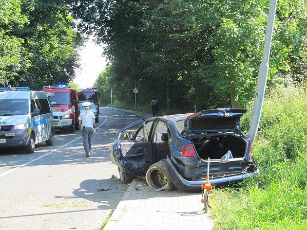 Nehoda mezi Kaňkem a Kutnou Horou 23. června 2014